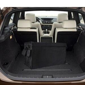 Image 3 - Auto lagerung box M LOGO Auto Stamm Lagerung box Veranstalter Taschen Für BMW X1 F25 X3 X4 F15 X5 F16 x6 1 2 3 5 Serie F10 F20 F30 F34