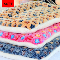 Dropshipping Pet Bed For Small Medium Dogs Mat Warm Sleeping Cats Nest Soft Long Plush Dog Bed Pet Cushion Portable Pet Supplies