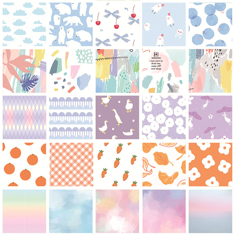 30 Pcs/set Kawaii Sulfuric Acid Paper Note Book Diary Background Decorative Paper Kawaii Memo Pad School Stationery Supplies
