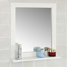 SoBuy ściana z drewna lustro łazienkowe z półką stojak do przechowywania w łazience FRG129-W tanie i dobre opinie Wood CN (pochodzenie) Wydłużanie przez podwójne ramię Rectangle Nowoczesne 6 cal