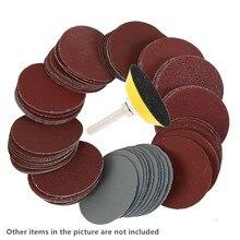 """100 шт """" дюймовый 50 мм шлифовальный диск смешанный шлифовальный полировальный флокирующий коврик наждачная бумага"""