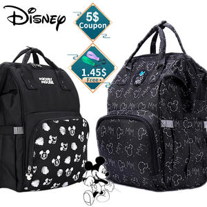 Disney Backpack Organizer Diaper-Bag Stroller Mommy-Bag Black Mickey New-Design Large-Capacity