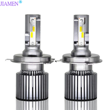 JIAMEN 2pcs H4 H7 LED H1 H3 H8 H9 H11 HB3 9005 HB4 9006 Bulbs Mini Car Headlight Lamp 6400LM 60W Auto Headlamp 12V 24V