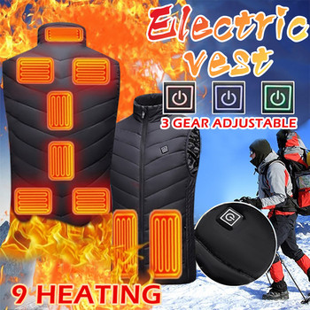Winter Electric Heated Vest Men Women Washable Heating Waistcoat Thermal Warm Clothing Usb Charging Heated Outdoor Heated Jacket