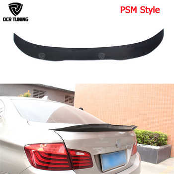 For BMW F10 Spoiler Performance 2010 - 2016 5 Series Sedan F10 Carbon Spoiler Lips F10 M5 Rear Trunk Wings car styling
