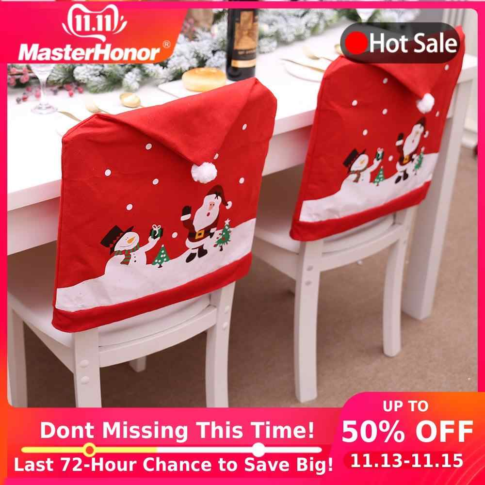 Christmas Chair Covers Spandex Stretch Elastic Festival Chair Cover With Backrest Christmas Decorations for Home YZT05