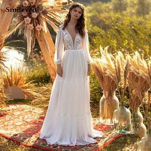 Шифоновое богемное свадебное платье А силуэта smileven 2021