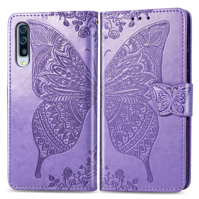 Butterfly <font><b>Flip</b></font> <font><b>Case</b></font> For <font><b>Samsung</b></font> Galaxy S10 S9 S8 Plus S7 Edge A10s A20e A30S A40 A50 s A70 <font><b>A80</b></font> J2 Core A8 J6 J4 Plus 2018 Cover image
