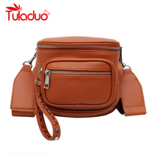 Women Crossbody Bag Fashion Over Shoulder Wide Strap Soft Artificial Leather Female Messenger for Ladies High Quality