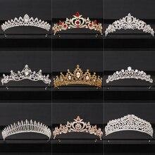 2020 CORONA DE BODA superior para tocado de novia oro plata barroca cristal tiaras y coronas novia tiara accesorios para el cabello de boda