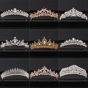 2020 Top Wedding Crown for Bridal Headpiece Gold Silver Baroque Crystal tiaras and crowns Bride tiara Wedding Hair Accessories(China)