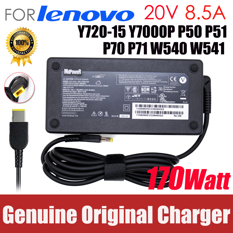 20V 8.5A Original 170W AC Power Adapter para Lenovo Legião Y720-15 Y7000P P50 P51 P70 P71 W540 45N0514 W541 Carregador Portátil