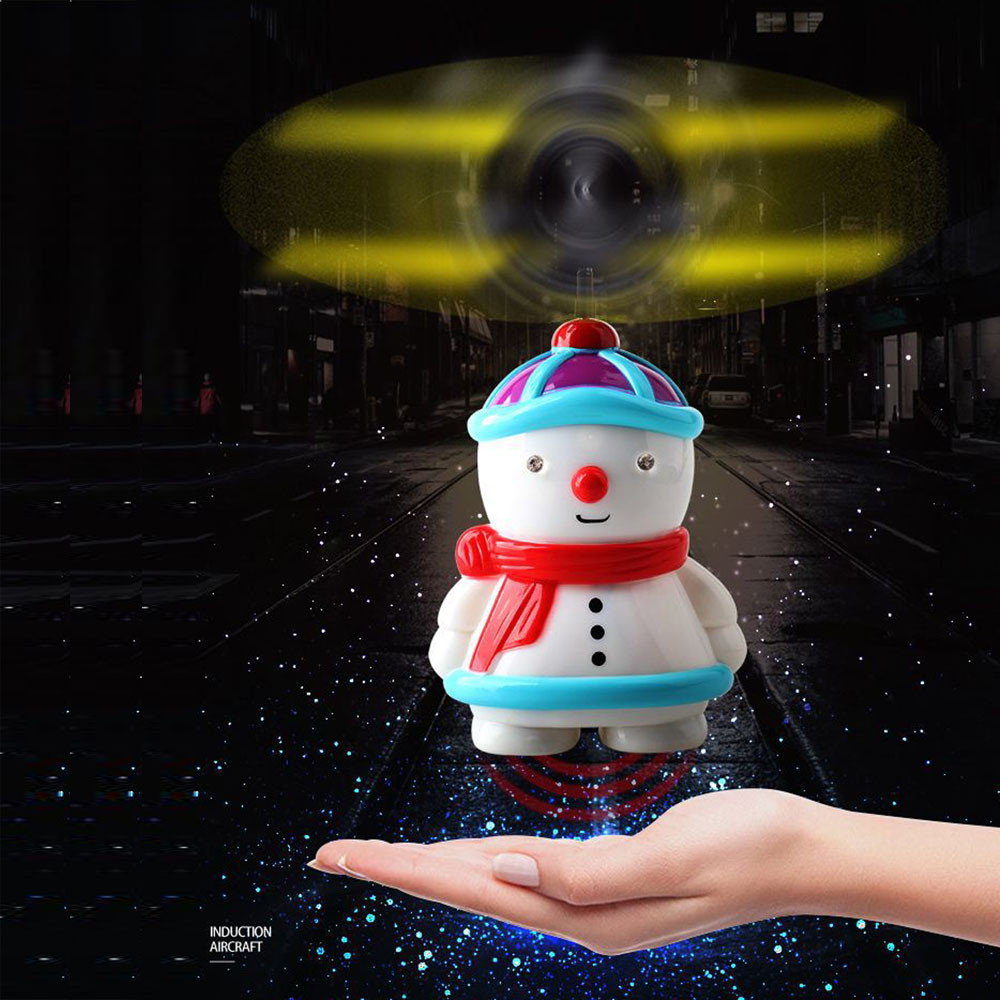 RC Drone Quadcopter Kits, Fdrone Electric Infrared Sensor Snowman Flying Toys Helicopter LED Light Xmas Gift Toy