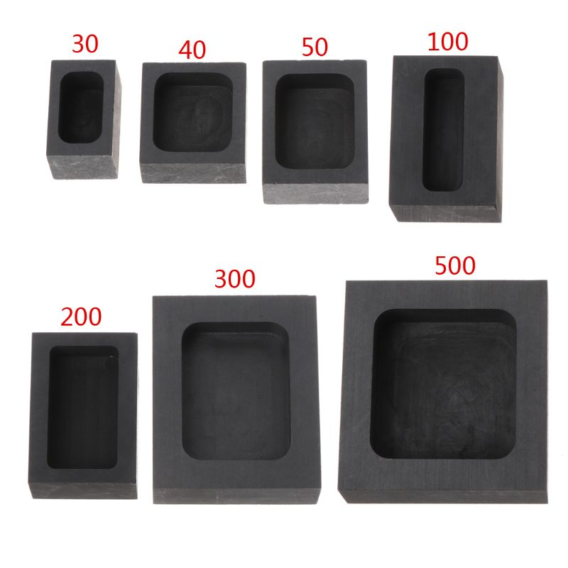 Graphite Ingot Bar Mold Mould Crucible For Melting Gold Silver Casting Refining