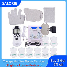Health Herald Digital Therapy Machine Electric Tens Unit  with Tens Electrode Pads Body Massage Back Massager Health Care Relax