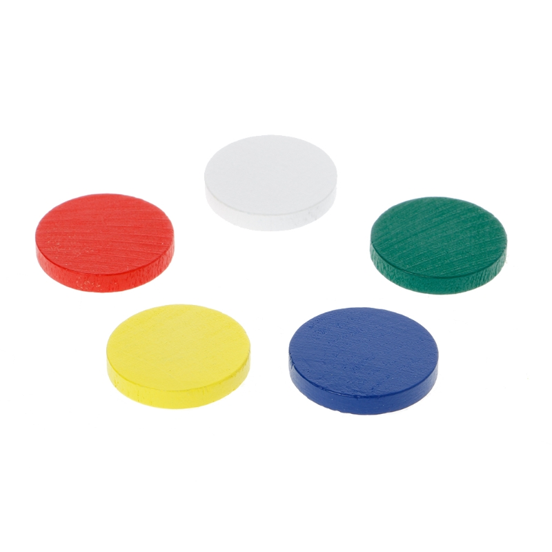 Colorful Montessori Wooden Round Plate Circles Math Toy Kids Baby Early Teaching