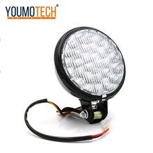5 אינץ 12V אוניברסלי led רטרו מתכת אופנוע פנס גבוה/נמוך Beam הנורה להאלי/סוזוקי קפה רוכב פנס