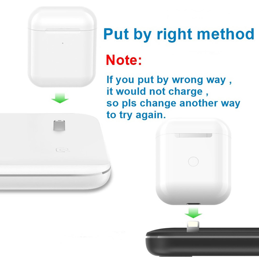 4 2 15W Wireless Charger For iPhone8 X XS MAX XR 8 Fast Wireless Full load 3 in 1 Charging Pad for Airpods 2019 Apple Watch 4 3 2 1 (3)