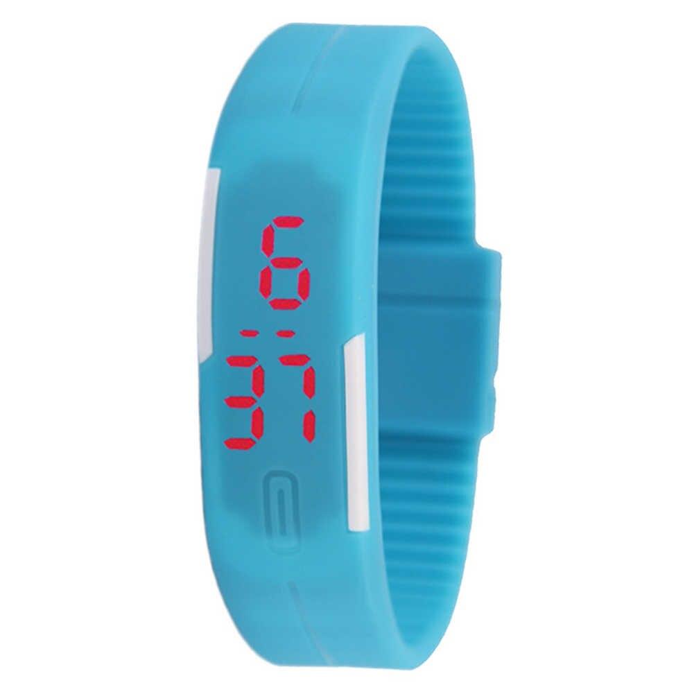 Digitale Horloge Sport Dunne Band Led Tijd Datum Display Kinderen Kids Digitale Horloge Gift Boy Girl Digital Watch student