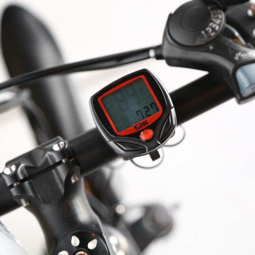 NEW Bicycle Meter Speedometer Bike Digital LCD Cycling Computer LCD Odometer Speedometer Stopwatch F