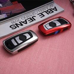 Etui na klucze pokrywa Fob dla BMW 520 525 f30 f10 F18 118i 320i 1 3 5 7 serii X3 X4 M3 M4 M5 E34 E36 E90 FOB brelok Car Styling w Etui na kluczyki samochodowe od Samochody i motocykle na