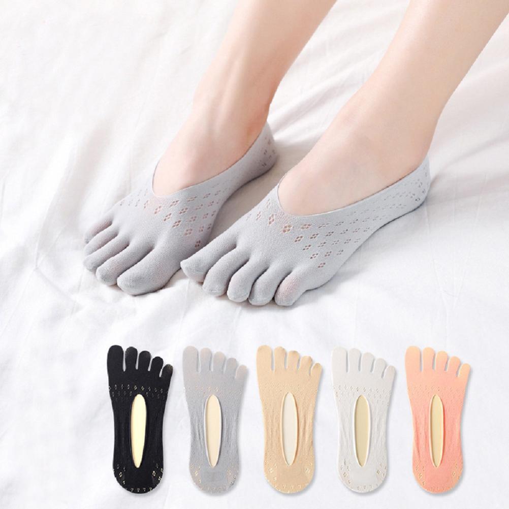 5 пар ортопедические сжимающие носки для Для женщин дышащие носки с пальцами «Five Finger», «Разделение носок носки-невидимки, носки-башмачки