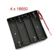4X18650 Battery Case Holder With Wire Leads 18650 Battery Holder DIY