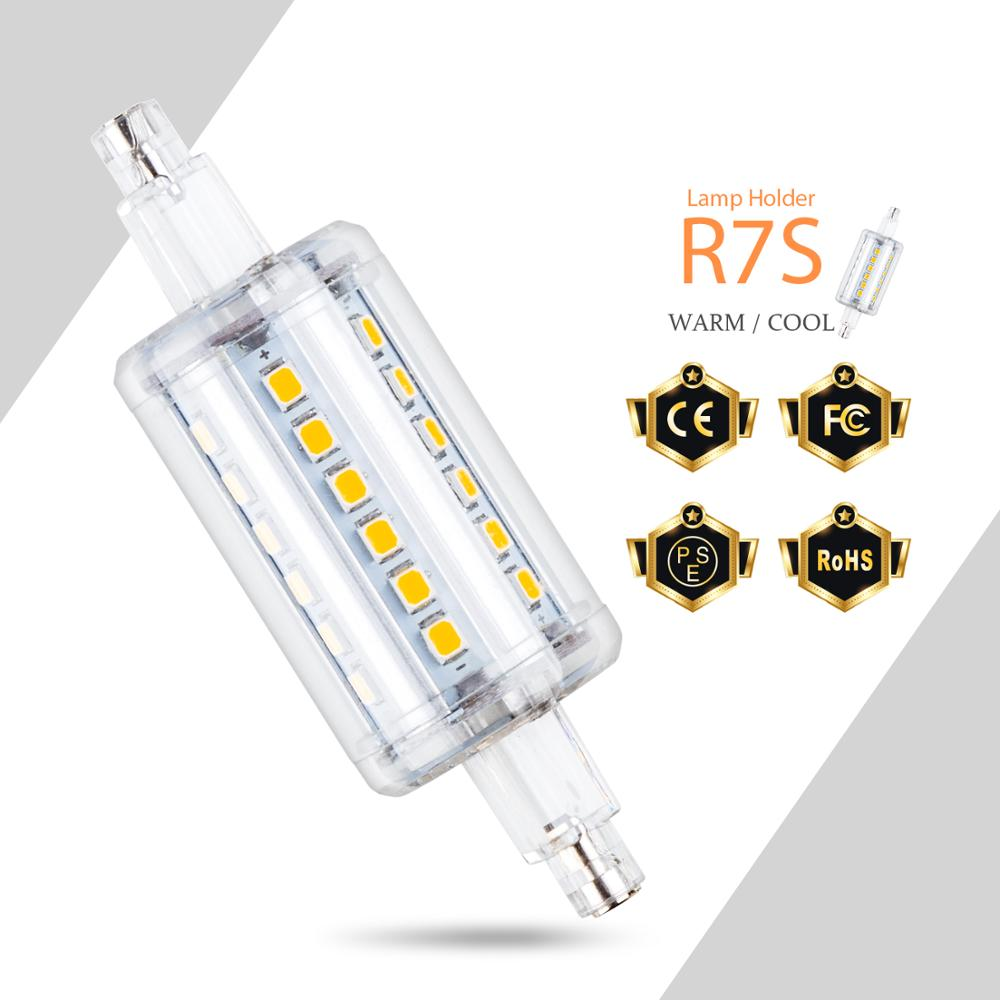 <font><b>R7S</b></font> <font><b>LED</b></font> Bulb 78mm <font><b>135mm</b></font> Corn Bulb <font><b>LED</b></font> Lamp 5W 12W Lampada <font><b>LED</b></font> Light 220V J78 <font><b>r7s</b></font> Floodlight Replace Halogen Lamp 110V SMD 2835 image