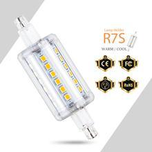 R7S LED Bulb 78mm 135mm Corn Bulb LED Lamp 5W 12W Lampada LED Light 220V J78 r7s Floodlight Replace Halogen Lamp 110V SMD 2835 factory price r7s led lamp light 8w r7s 78mm 13w r7s 118mm 85 265v silicone bulb floodlight r7s led spotlight replace halogen