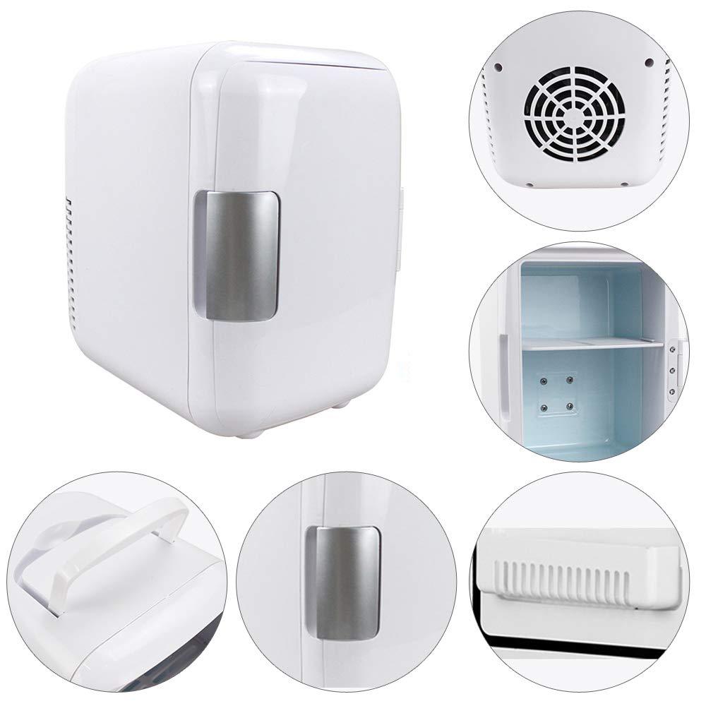 Двойной-использовать 4Л автомобилей и домашних холодильников ультра тихий низкий уровень шума холодильники автомобильные путешествия морозильник охлаждения пищевых продуктов для хранения фруктов холодильник