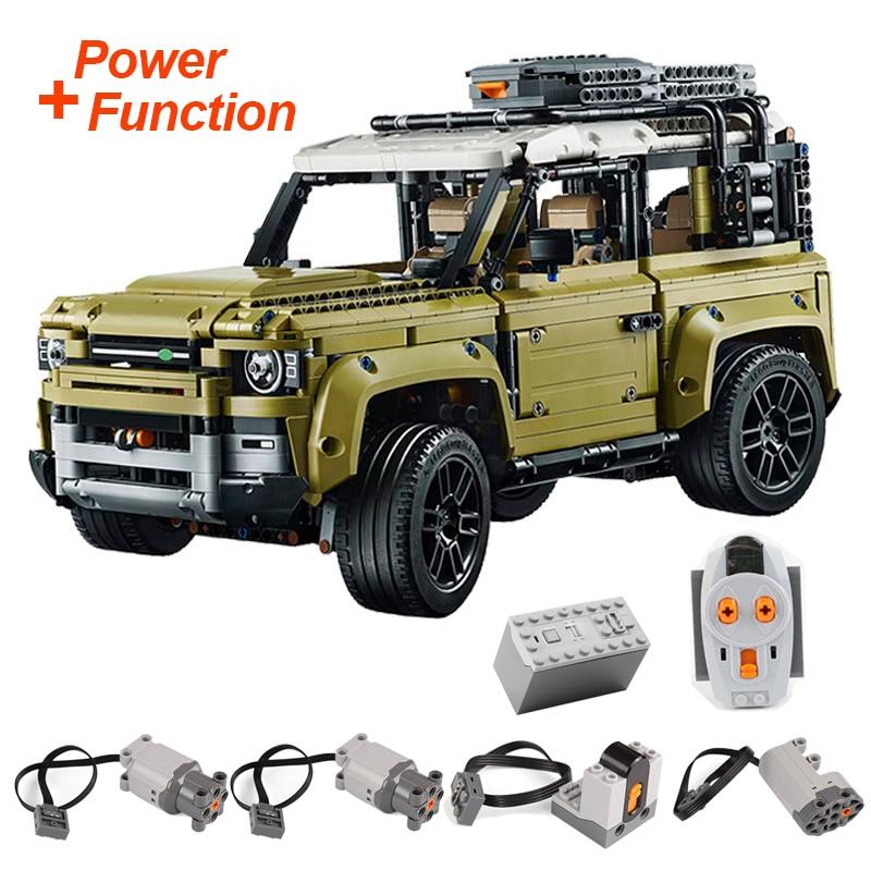 93018 Lepinblocks Technic Car Series Land Rover Defender With Motor 2830PCS Model BuildingToys For Children