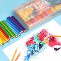 GUANGHUI 150 Colors Wood Watercolor Pencil Professional Soft Water Soluble Coloured Pencils Set For Art Drawing