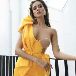 Adyce Nieuwe Zomer Een Schouder Boog Bodycon Club Vrouwen Jurk Sexy Kant Ruches Mouwloze Celebrity Avond Party Dress Vestidos