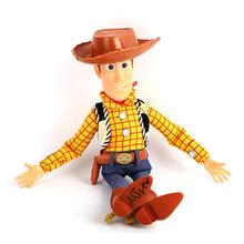 45cm Toy Story 4 Talking Woody PVC Action Figure Model Toys for Children Christmas Gift free shipping 1pcs toy story pop woody action pvc figure toy tall 16cm in box for collection