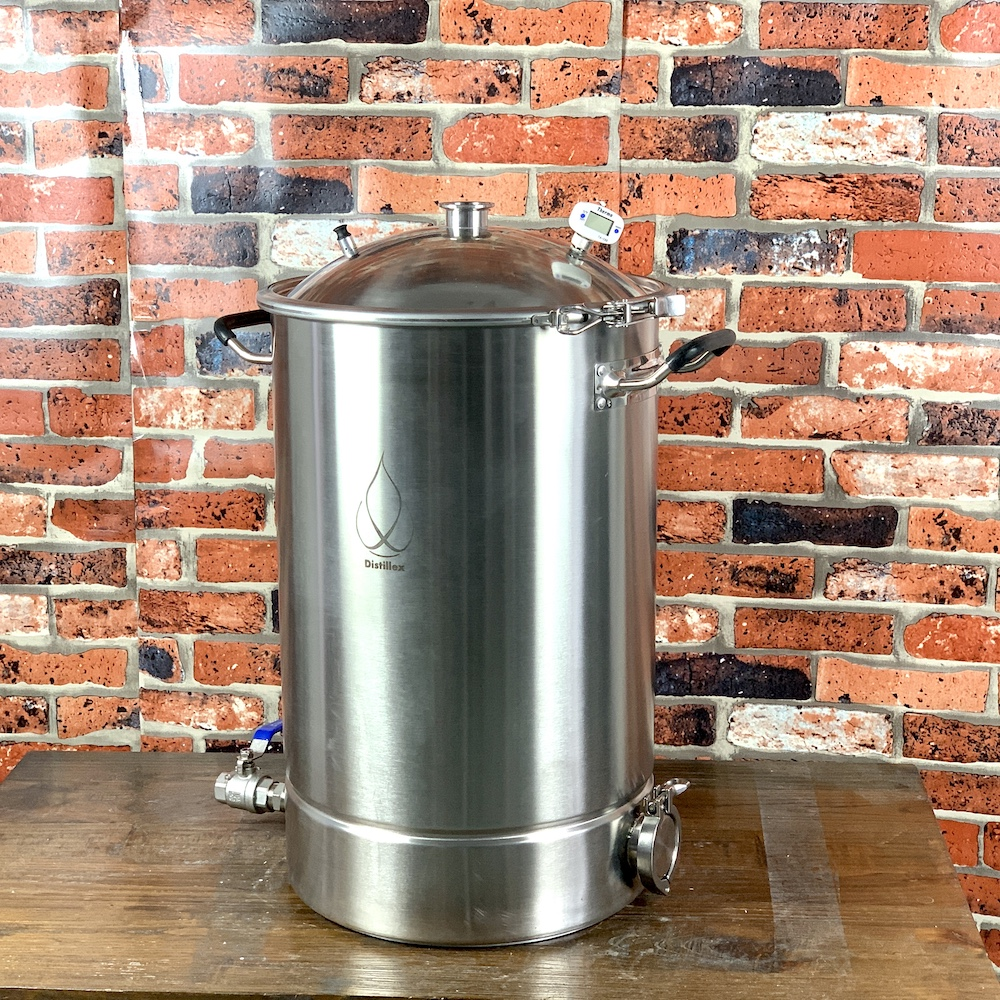 38L Pot, Boiler, Tank, Fermenter With Bell Lid  Distillation, Rectification, Sanitary Steel 304