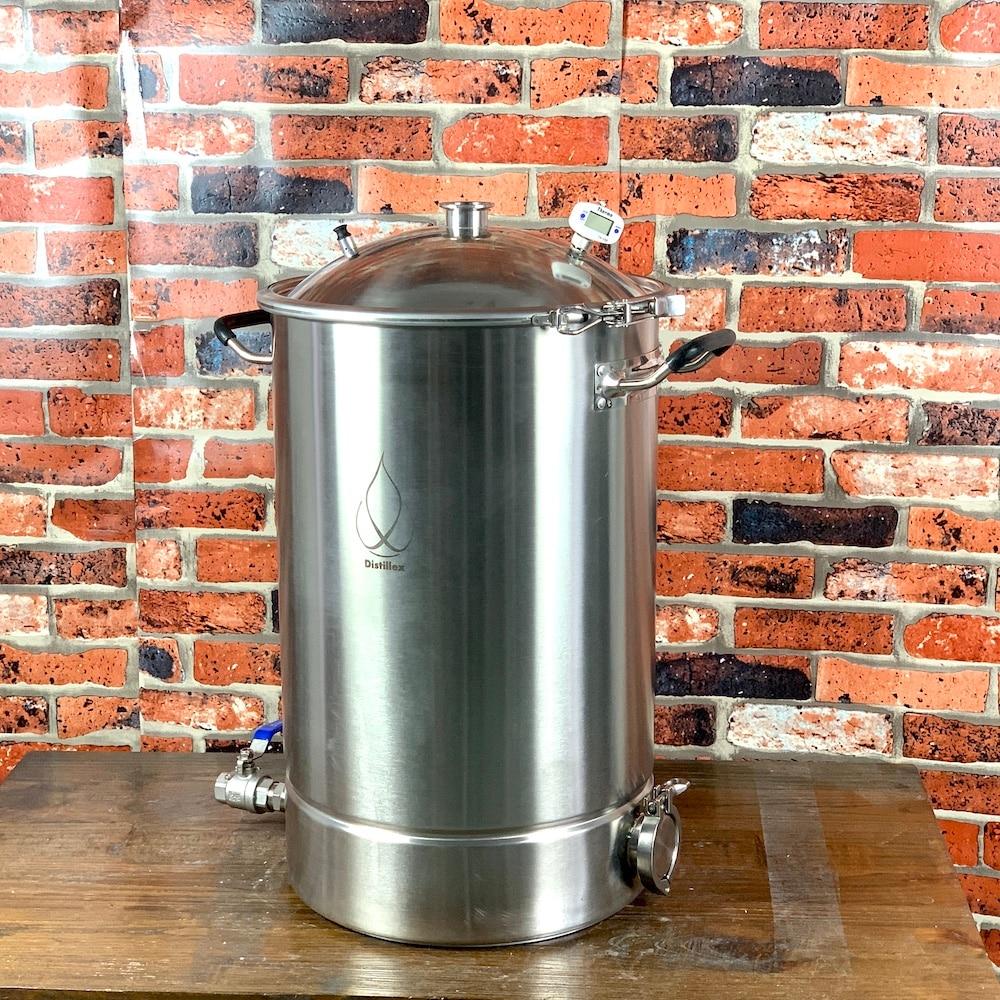 38L Pot, Boiler, Tank, Fermenter With Bell Lid  Distillation, Rectification, Sanitary Steel 304
