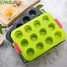 Mini 12 Hole Silicone Muffin Cupcake Mold 3D Pan Tray Cake Mold Bakeware Mould DIY Pan Dessert Cookie Form Non-stick Cake Tool 6 12 holes square cupcake pan muffin tray cupcake mold muffin pan carbon steel baking pan non stick bakeware biscuit pan zxh