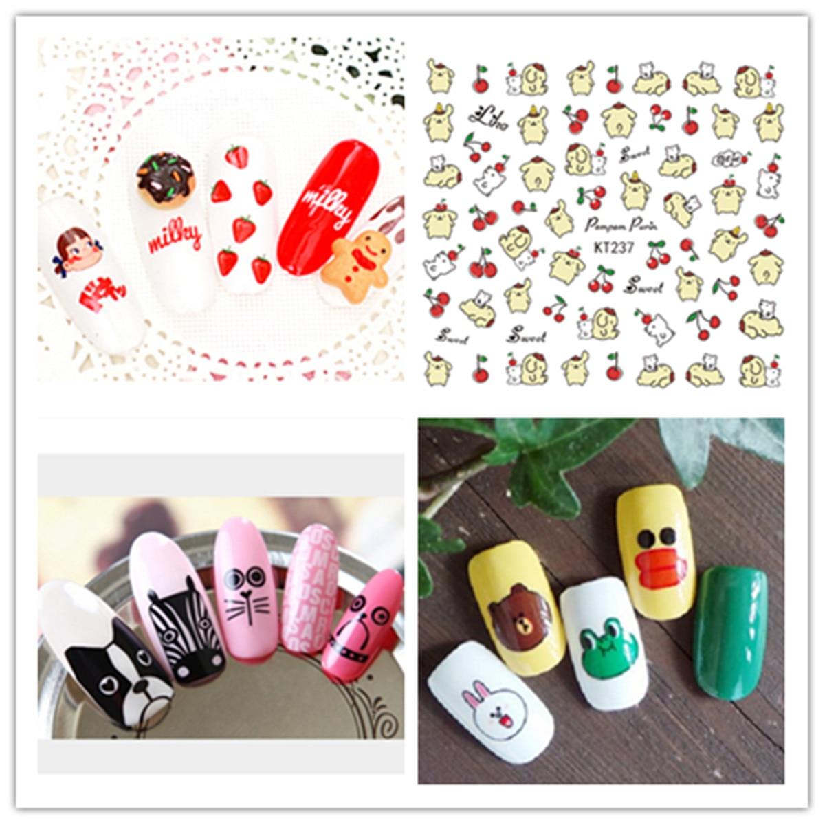KT232-2533D Gum Environmentally Friendly Children Nail Sticker Series Nail Sticker 3D Nail Sticker Stationery Stickers