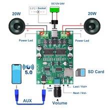 Placa amplificadora Digital YDA138E, 2x20W, Bluetooth 5,0, estéreo, doble canal, Clase D Amp