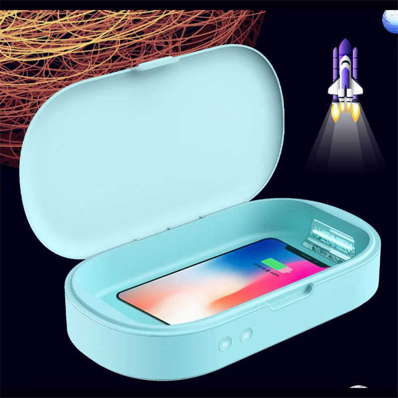 Home Cleaning Phone Disinfection Box 10W Wireless Fast Charging Applicable Wireless Charger UV Mobile Phone Sterilizer