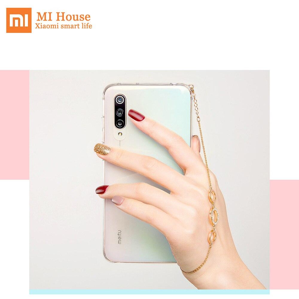 Coque de téléphone d'origine Xiaomi CC9 Meitu avec Bracelet Protection de décoration mode claire