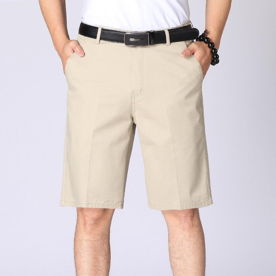 TFU Men's 2020 Summer Business Casual 100% Cotton Twill Shorts Men Fashion Solid Color Vintage Washed Pockets Cargo Shorts Men