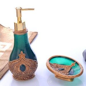Image 1 - Portable 2Pcs/Set Soap Dispenser Hand Sanitizer Container Lotion Shampoo Bottles Desktop Decorative Bath Liquid Bottles Sets