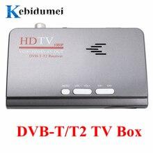 Kebidumei eu 디지털 지상파 hdmi 1080 p dvb t/t2 tv 박스 vga + hdmi + av cvbs 튜너 수신기 + 원격 제어