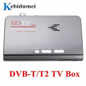 Image 1 - kebidumei EU Digital Terrestrial HDMI 1080P DVB T/T2 TV Box VGA +HDMI+AV CVBS Tuner Receiver +Remote Control
