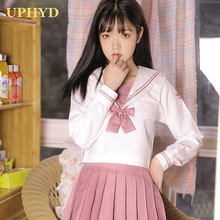 Sailor-Suits Jk-Uniform Skirt-Tie-Set Navy-Style Girls Summer Hot Spring Gilrs-Top And