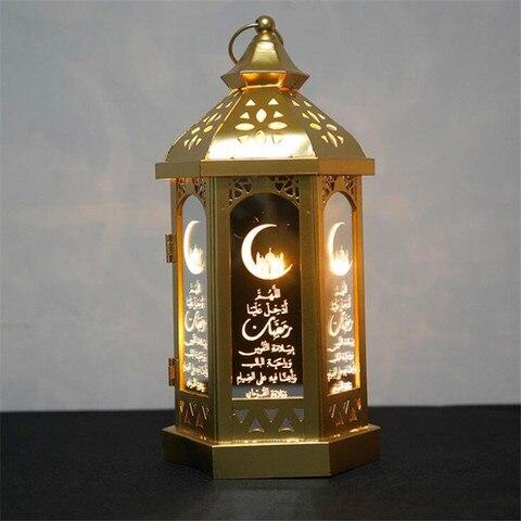 led eid al adha luz da noite muculmano