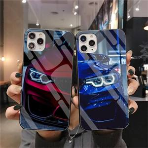 Blue Red Car for Bmw Customer High Quality Phone Case Tempered Glass For iPhone 11 Pro XR XS MAX 8 X 7 6S 6 Plus SE 2020 case