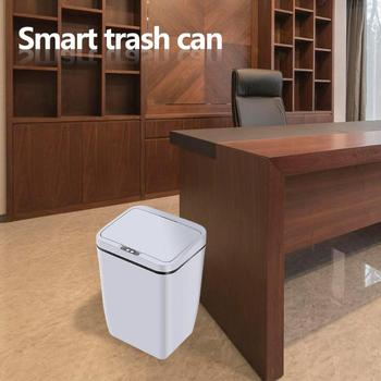 12L Intelligent Trash Can Automatic Sensor Dustbin Smart Sensor Electric Waste Bins PP Plastic Home Eco-Friendly Dustbin
