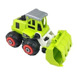 Image 2 - New 4 pcs in 1 set, DIY Farmer Screwing Blocks, Assembled Farm Tractor Car, Educational Toys Building & Construction Truck Model
